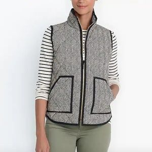J.CREW Women's Puffer Quilted Puffy Vest Jacket